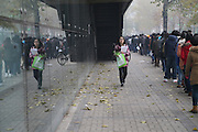 TIANJIN, CHINA - NOVEMBER 26: (CHINA OUT)<br /> <br /> Thousands of Graduates Attend Job Fair all fighting to get a job<br /> <br /> Graduates attend mutual selection job fair at Tianjin University Sports Arena on November 26, 2014 in Tianjin, China. With a new term of graduates leaving universities, companies of all walks of life started their personnel recruitment for graduates<br /> ©Exclusivepix