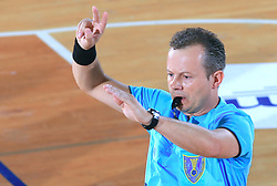 Referee Peter Ljubic at Final match of Slovenian Men Handball Cup between RK Cimos Koper and RK Celje Pivovarna Lasko, on April 19, 2009, in Arena Bonifika, Koper, Slovenia. Cimos Koper won 24:19 and became Slovenian Cup Champion. (Photo by Vid Ponikvar / Sportida)