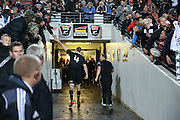 Brodie Retallick of the All Blacks high fives fans after the third rugby test between the All Blacks and England played at Waikato Stadium in Hamilton during the Steinlager Series - All Blacks v England, Hamiton, 21 June 2014<br /> www.photosport.co.nz