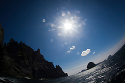 Boreray, Stac Lee, and Stac an Armin..St Kilda archipelago, west-northwest of North Uist in the North Atlantic Ocean. It is one of Scotland's five World Heritage Sites..©Michael Schofield..