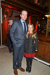 MATTHEW MACFADYEN and his daughter MAGGIE MACFADYEN at the fourth annual Fayre of St James's charity Christmas concert hosted by the Quintessentially Foundation and The Crown Estate in partnership with Deutsche Asset & Wealth Management held at  St James's Church, 197 Piccadilly, London followed by a party at Quaglino's 16 Bury Street, London on 24th November 2015.