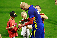 Spain's Pepe Reina with a group of children of the Hospital Pedagogical Unit of the General Hospital of Alicante after training session. October 5,2017.(ALTERPHOTOS/Acero)