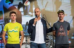 Primoz Roglic and Tadej Pogacar during the Day for the medals: Reception of Slovenian sport heroes on 30.9.2019 on Kongresni square, Ljubljana, Slovenia. Photo by Urban Meglič / Sportida