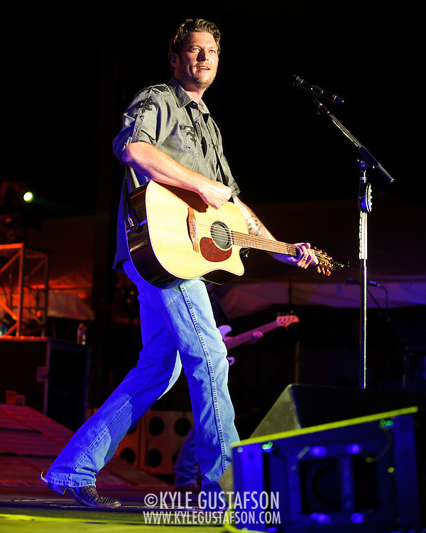 LUTHERVILLE-TIMONIUM, MD - September 3rd, 2011 - Blake Shelton performs at the Maryland State Fair. One of the co-hosts of NBC's The Voice, Shelton released his latest album, Red River Blue, in July. (Photo by Kyle Gustafson/For The Washington Post)