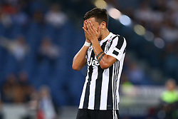 August 13, 2017 - Rome, Italy - The delusion of Paulo Dybala of Juventus during the Italian SuperCup TIM football match Juventus vs lazio on August 13, 2017 at the Olympic stadium in Rome. (Credit Image: © Matteo Ciambelli/NurPhoto via ZUMA Press)