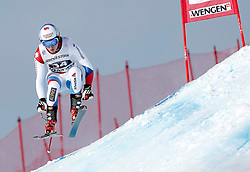 17.01.2014, Lauberhorn, Wengen, SUI, FIS Weltcup Ski Alpin, Wengen, Super Kombination, Herren, Super G, im Bild Mauro Caviezel (SUI) // in action during the Super-G of mens Super Combined of the Wengen FIS Ski Alpine World Cup at the Lauberhorn course in Wengen, Switzerland on 2014/01/17. EXPA Pictures © 2014, PhotoCredit: EXPA/ Freshfocus/ Christian Pfander<br /> <br /> *****ATTENTION - for AUT, SLO, CRO, SRB, BIH, MAZ only*****