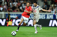 FOOTBALL - FRENCH CHAMPIONSHIP 2010/2011 - L1 - PARIS SG v GIRONDINS DE BORDEAUX - 22/08/2010 - PHOTO GUY JEFFROY / DPPI - NENE (PSG) / FERNANDO (BOR)