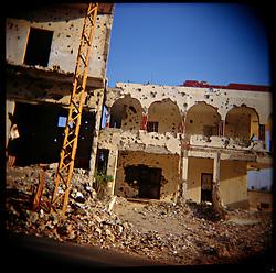 Damaged buildings are seen in Aytaroun, Southern Lebanon, Oct. 23, 2006.