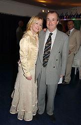 Actress ANGHARAD REES and MR DAVID McALPINE at a party hosted by Sonia & Andrew Sinclair at The Westminster Boating Base, 136 Grosvenor Road, London SW1 on 5th June 2006.<br /><br />NON EXCLUSIVE - WORLD RIGHTS
