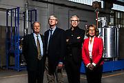 La famiglia Barbero della COMET, Alba. Nella fotografia da sinistra Sergio, Gianpaolo, Mauro ed Olivia. L'azienda si occupa della produzione di macchine ed impianti per i settori alimentare, chimico e delle costruzioni.