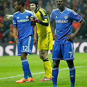 Chelsea's Ramires (L) during their UEFA Champions League Round of 16 First leg soccer match Galatasaray between Chelsea at the AliSamiYen Spor Kompleksi in Istanbul, Turkey on Wednesday 26 February 2014. Photo by Aykut AKICI/TURKPIX