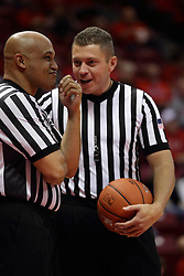21 November 2015: Ed Crenshaw and Ryan Odneal. Illinois State Redbirds host the Houston Baptist Huskies at Redbird Arena in Normal Illinois (Photo by Alan Look)
