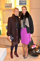 Left to right, AUDE DIB and SOPHIE DHERS at a breakfast at Roger Vivier, 188 Sloane Street to view the SS2014 Roger Vivier collections held on 20th March 2014.