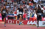 Christophe Lemaitre (FRA) competes in 100m Men during the Meeting de Paris 2018, Diamond League, at Charlety Stadium, in Paris, France, on June 30, 2018 - Photo Julien Crosnier / KMSP / ProSportsImages / DPPI