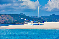 white sand beach of coron island in Palawan Philippines