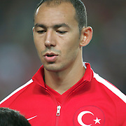 Turkey's Umut Bulut during their UEFA Euro 2016 qualification Group A soccer match Turkey betwen Czech Republic at Sukru Saracoglu stadium in Istanbul October 10, 2014. Photo by Aykut AKICI/TURKPIX
