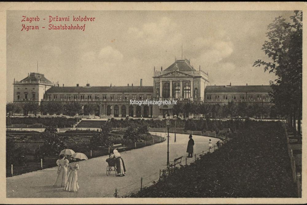 Zagreb : Državni kolodvor = Agram : Staatsbahnhof. <br /> <br /> Impresum[S. l. : S. n.], 1911.<br /> Materijalni opis1 razglednica : tisak ; 9 x 14 cm.<br /> Vrstavizualna građa • razglednice<br /> ZbirkaZbirka razglednica • Grafička zbirka NSK<br /> Formatimage/jpeg<br /> PredmetZagreb –– Trg kralja Tomislava<br /> SignaturaRZG-TOM-53<br /> Obuhvat(vremenski)20. stoljeće<br /> NapomenaRazglednica nije putovala.<br /> PravaJavno dobro<br /> Identifikatori000953715<br /> NBN.HRNBN: urn:nbn:hr:238:237665 <br /> <br /> Izvor: Digitalne zbirke Nacionalne i sveučilišne knjižnice u Zagrebu