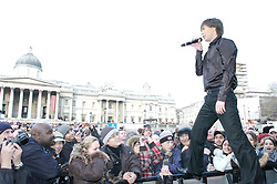 Mark Tishman performs at the <br /> Russian Winter Festival <br /> Trafalgar Square, London, Great Britain<br /> 13th January 2008 <br /> Photograph by Elliott Franks <br /> <br /> Mark Tishman