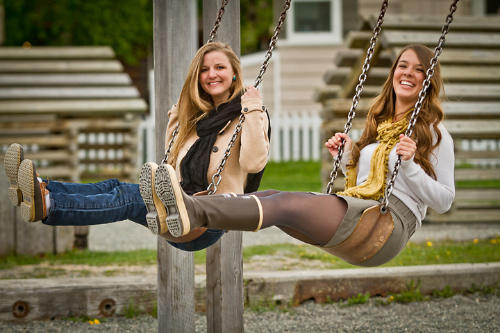 Melissa and Julia McKeithen at Frontier Park at the corner of 10th and E Street, Anchorage.