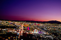 View of the Strip (Las Vegas Boulevard) looking south from the Stratosphere Tower, Las Vegas, Nevada