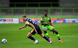 Ross Marshall of Stevenage gets past Jamille Matt of Forest Green Rovers- Mandatory by-line: Nizaam Jones/JMP - 17/10/2020 - FOOTBALL - innocent New Lawn Stadium - Nailsworth, England - Forest Green Rovers v Stevenage - Sky Bet League Two