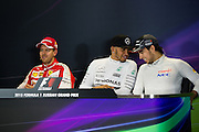 October 8-11, 2015: Russian GP 2015: Sebastian Vettel (GER), Ferrari, Sergio Perez (MEX), Force India, Lewis Hamilton (GBR), Mercedes