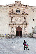 San Agustin Church and Convent in the historic district Oaxaca, Mexico.