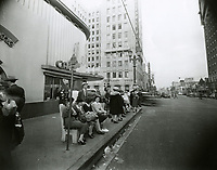 1943 Looking east on Hollywood Blvd. towards Vine St.