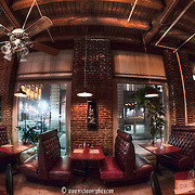 The interior of the Red Dragon House restaurant in the Garment District at 8th and Broadway, KCMO.