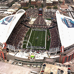 Aerial view of Seattle Washington Sports Stadiums, Qwest Stadium, home of the Seahawks