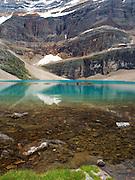 View of stunning Oesa Lake in Yoho National Park, near Field, British Columbia, Canada