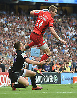 Rugby Union - 2019 Gallagher Premiership Final - Exeter Chiefs vs Saracens<br /><br />Saracens' Liam Williams catches the ball before running in  their third try, at Twickenham Stadium.  <br /><br />COLORSPORT / ALAN WALTER