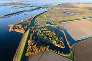 Nederland, Noord-Brabant, Heijningen, 07-02-2018; Fort Sabina Henrica, Stelling van het Hollandsch Diep en het Volkerak.<br /> Old fortress on water near border Brabant. <br /> <br /> luchtfoto (toeslag op standard tarieven);<br /> aerial photo (additional fee required);<br /> copyright foto/photo Siebe Swart
