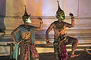 Khon, masked dance, performance at Wat Prasat in Nothaburi. The Khon Masked Dance Drama in Thailand, is a performing art that combines musical, vocal, literary, dance, ritual and handicraft elements. Khon performances – which involve graceful dance movements, instrumental and vocal renditions and glittering costumes – depict the glory of Rama, the hero and incarnation of the god Vishnu, who brings order and justice to the world. The many episodes depict Rama's life, including his journey in the forest, his army of monkeys, and his fights with the army of Thosakan, king of the giants. On one level, Khon represents high art cultivated by the Siamese/Thai courts over centuries, while at another level, as a dramatic performance, it can be interpreted and enjoyed by spectators from different social backgrounds. Khon has a strong didactic function, reinforcing respect for those of a higher age and status, mutual dependence between leaders and followers, the honour of rulers and the triumph of good over evil. Traditionally, Khon was transmitted in the royal or princely courts, and in dance masters' households. Today, however, transmission occurs mostly in educational institutions, while still adhering largely to traditional methods. Concerted efforts are made to ensure the continuity of the practice, including through the establishment of training and performance clubs that help reach out to young people.  UNESCO