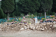 The graves of many victims of the Soma mining incident where almost 300 workers have been killed. Soma cemetery, western Turkey
