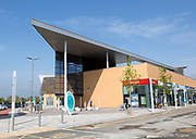 Modern architecture buildings at Orbital Shopping Park developed by British Land, north Swindon, Wiltshire, England, UK