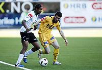 Fotball , 13. juni 2011 , Addecoligaen<br /> Hønefoss - Bodø/Glimt 3-2<br /> <br /> Paul Obiefule , Hønefoss<br /> Mounir Hamoud , Glimt