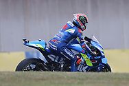 #42 Alex Rins, Spanish: Team Suzuki Ecstar during the MotoGP Grand Prix de France at the Bugatti Circuit at Le Mans, Le Mans, France on 18 May 2019.