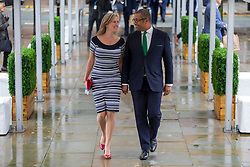 © Licensed to London News Pictures. 29/09/2019. Manchester, UK. MP James Cleverly & wife Susannah on first day of the Conservative Party Conference at Manchester Central in Manchester. Photo credit: Andrew McCaren/LNP