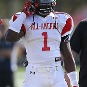 Isaiah Crowell during the practice session at the Walt Disney Wide World of Sports Complex in preparation for the Under Armour All-America high school football game on December 3, 2011 in Lake Buena Vista, Florida. (AP Photo/Alex Menendez)