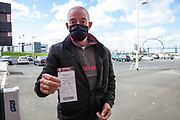 Middlesbrough fan with his ticket ahead of the EFL Sky Bet Championship match between Middlesbrough and Bournemouth at the Riverside Stadium, Middlesbrough, England on 19 September 2020.