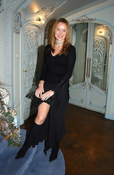 Actress AMANDA HOLDEN at jewellers Tiffany's Christmas party held at The Savile Club, 69 Brook Street, London on 14th December 2004.<br /><br />NON EXCLUSIVE - WORLD RIGHTS
