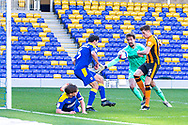 GOAL 0-2 Hull City defender Reece Burke (5) scores during the EFL Sky Bet League 1 match between AFC Wimbledon and Hull City at Plough Lane, London, United Kingdom on 27 February 2021.