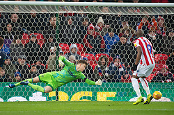 January 19, 2019 - Stoke On Trent, England, United Kingdom - Sam Clucas of Stoke City scores his team's first goal during the Sky Bet Championship match between Stoke City and Leeds United at the Britannia Stadium, Stoke-on-Trent on Saturday 19th January 2019. (Credit Image: © Mark Fletcher/NurPhoto via ZUMA Press)