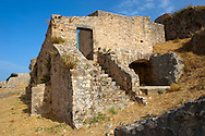 """The venetian castle """"St.George"""" located south of Argostoli, Kefalonia, Ionian Islands, Greece. .<br /> <br /> Visit our GREEK HISTORIC PLACES PHOTO COLLECTIONS for more photos to download or buy as wall art prints https://funkystock.photoshelter.com/gallery-collection/Pictures-Images-of-Greece-Photos-of-Greek-Historic-Landmark-Sites/C0000w6e8OkknEb8"""