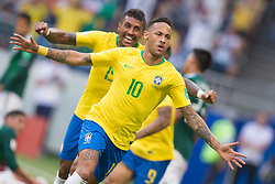 July 2, 2018 - Samara, Russia - Neymar (BRA),Paulinho (BRA) during the 2018 FIFA World Cup Russia Round of 16 match between 1st Group E and 2nd Group F at Samara Arena on July 2, 2018 in Samara, Russia. (Credit Image: © Foto Olimpik/NurPhoto via ZUMA Press)