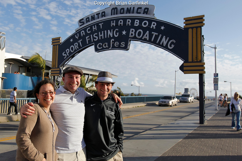 Kate, Brian and Joel pose for a picture in front of the Santa Monica Pier in Santa Monica on Sunday, May 8th, 2011.