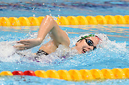 Hungary's Boglarka Kapas on her way to a gold in the 1500m Freestyle during Day 13 of the 2016 LEN European Aquatics Championship Swimming Finals at the London Aquatics Centre, London, United Kingdom on 21 May 2016. Photo by Martin Cole.
