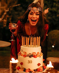 """Vanessa Hudgens releases a photo on Instagram with the following caption: """"Had the most magical birthday party. Very thankful for everyone who made it happen \u2764\ufe0f\ud83d\udcf8 @briangove \ud83d\udc78\ud83c\udffb @chadwoodhair @chaviv_hair"""". Photo Credit: Instagram *** No USA Distribution *** For Editorial Use Only *** Not to be Published in Books or Photo Books ***  Please note: Fees charged by the agency are for the agency's services only, and do not, nor are they intended to, convey to the user any ownership of Copyright or License in the material. The agency does not claim any ownership including but not limited to Copyright or License in the attached material. By publishing this material you expressly agree to indemnify and to hold the agency and its directors, shareholders and employees harmless from any loss, claims, damages, demands, expenses (including legal fees), or any causes of action or allegation against the agency arising out of or connected in any way with publication of the material."""