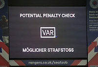 Football - 2019 / 2020 UEFA Europa League - Round of Sixteen, First Leg: Rangers vs. Bayer 04 Leverkusen<br /> <br /> Potential VAR penalty check, at Ibrox Stadium, Glasgow.<br /> <br /> COLORSPORT/BRUCE WHITE